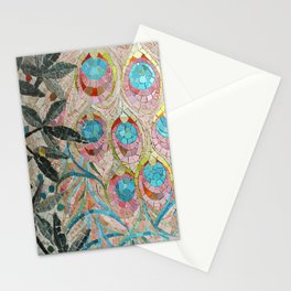 Peacock Pattern Mosaic art Stationery Cards