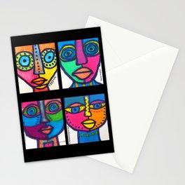 Vibrant Juju Masks (4) #01 Stationery Cards