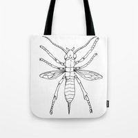 insect Tote Bags featuring Insect by Martin Stolpe Margenberg