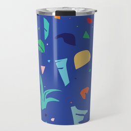 Shapes of Tropicalia / Colorful Abstraction Travel Mug