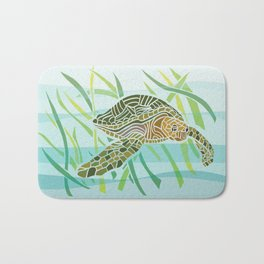 Sea Turtle at Home Bath Mat