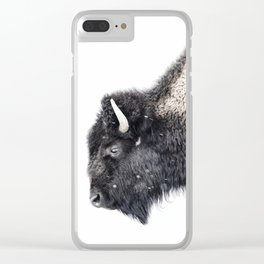 Bison in Yellowstone National Park Clear iPhone Case
