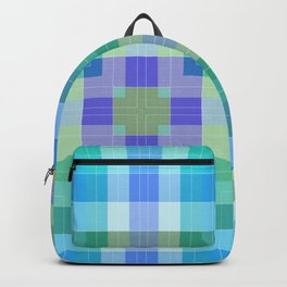 Geometric Blue and Green Backpack
