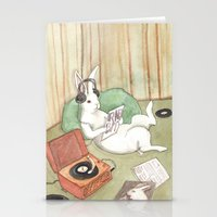 vinyl Stationery Cards featuring Vinyl by Bluedogrose
