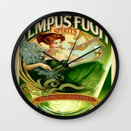 Vintage poster - Tempus Fugit Absinthe Wall Clock