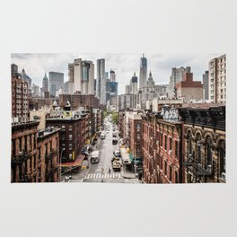 New York City Skyline (Brooklyn, Queens, Manhattan) Rug