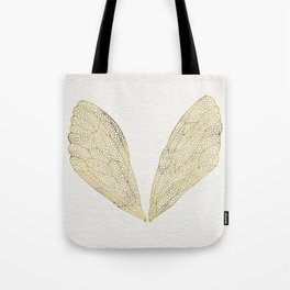 Cicada Wings in Gold Tote Bag