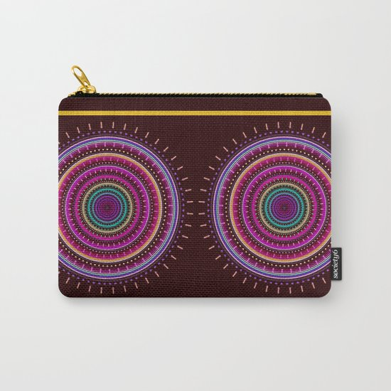 Colorful patterns and textured mandala Carry-All Pouch