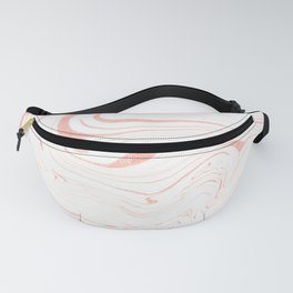 Rose Gold Marble Ink Swirl Fanny Pack