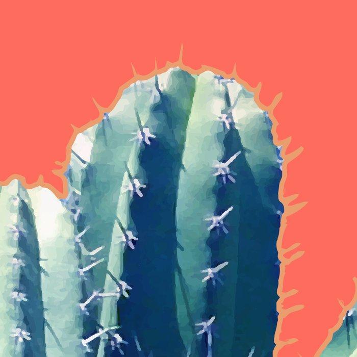 Cactus on Coral #society6 #decor #buyart Leggings