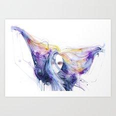 Big Bang in watercolor Art Print