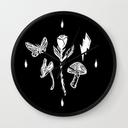 Icon Flora Black and White Wall Clock