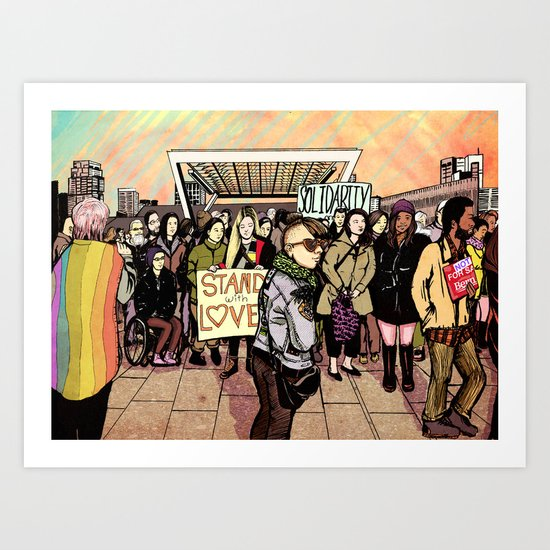 Love and Solidarity Art Print