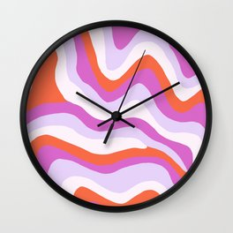 Cosmico, psychedelic waves Wall Clock