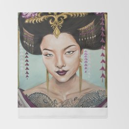 Wu Zetian Throw Blanket