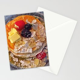 Forest fruits pancakes Stationery Cards