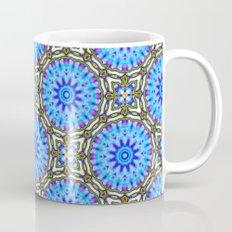 Liquid Blue Kaleido Pattern Mug