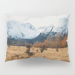 Peaceful New Zealand mountain landscape Pillow Sham