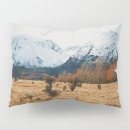 Peaceful New Zealand mountain landscape Pillow Sham