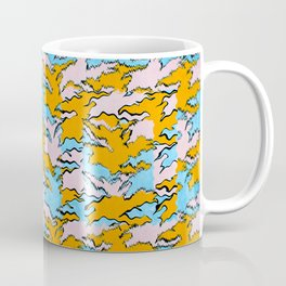Fringed Flying Figures Tessellation Coffee Mug