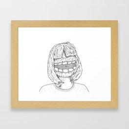 Big Mouth Framed Art Print