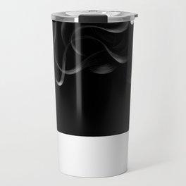 Black hair Travel Mug