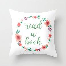 Read a Book Throw Pillow