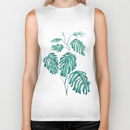 Monstera painting 2017 Biker Tank