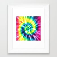 tie dye Framed Art Prints featuring Tie Dye by Patterns of Life