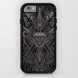 Crest Craft Black iPhone Case