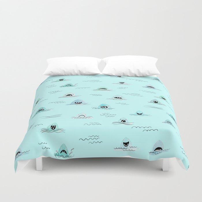 Sharkhead - Shark Pattern Duvet Cover