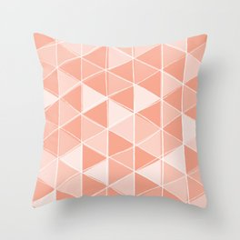 Coral Triangles Throw Pillow