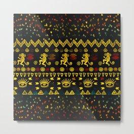 Aztec Symbols Pattern Metal Print