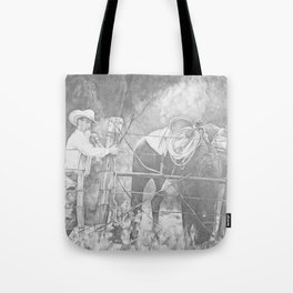 Fixing the Fence Tote Bag