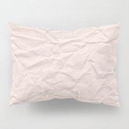 crumpled paper. Kraft paper Pillow Sham