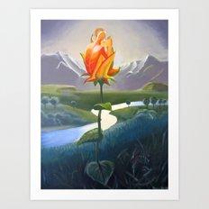 Flower Lovers Art Print