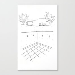 TADAO SKETCH  Canvas Print