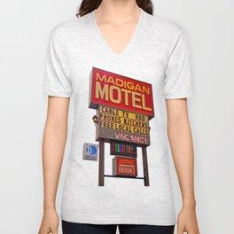Nostalgic motel sign Unisex V-Neck