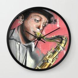 Miles Poster, Jazz Music Legend, American jazz saxophonist, Drawings Icon Portrait, Minimalist Wall Art Decor, Nursery Art Wall Clock