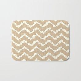 Ragged Chevron - Taupe/Cream Bath Mat