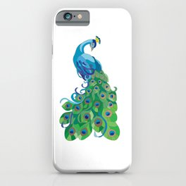 Peacock illustration iPhone Case