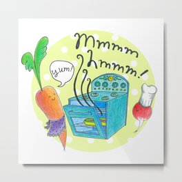Mmm-Hmm! Kitchen Metal Print