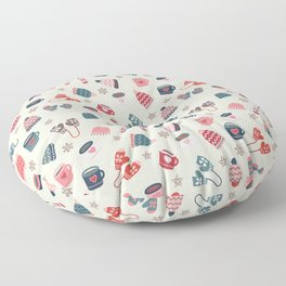 Scandinavian Winter Time Floor Pillow