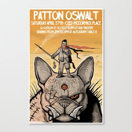 Patton Oswalt at C2E2 event poster Canvas Print