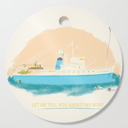 Let Me Tell You About My Boat - The Belafonte Boat Art - The Life Aquatic Steve Zissou Art Cutting Board