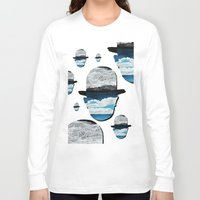 magritte Long Sleeve T-shirts featuring Ceci n'est pas une Magritte by Condor