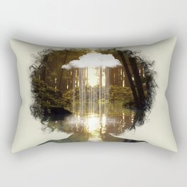 Mind Rain Rectangular Pillow
