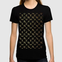 Twelve Zodiac Signs Horoscope Pattern T-shirt
