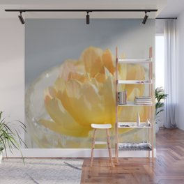 Yellow Rose in Crystal Bowl Macro Floral Photography Wall Mural