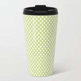 Daiquiri Green and White Polka Dots Travel Mug